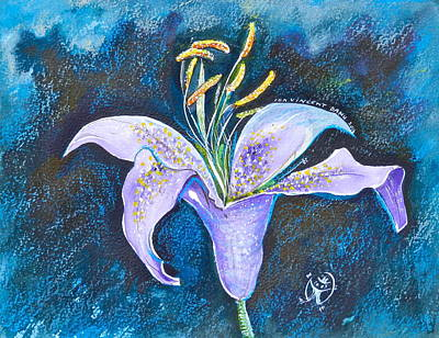 Purple Lily Art Print by Ion vincent DAnu