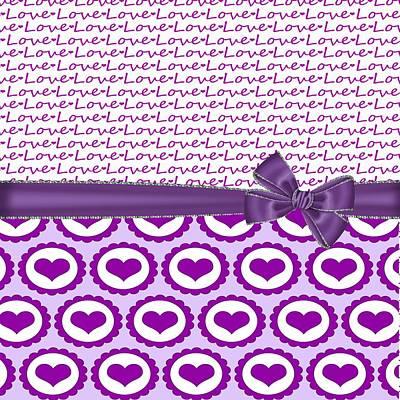 Valentines Day Digital Art - Purple Love  by Debra  Miller