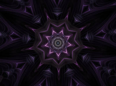 Purple Majestry Kaleidoscope Art Print