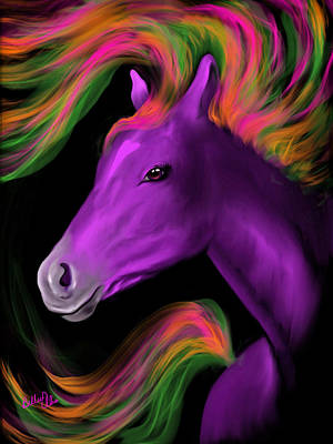Animal Lover Digital Art - Purple Majesty by Billie Jo Ellis