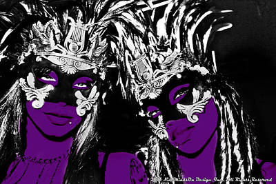 Purple Mask Art Print by Ley Clarie Gray