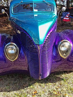 Digital Art - Purple Maze by Don Kleinschmidt