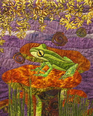 Quilted Tapestries Tapestry - Textile - Purple Mist by Lynda K Boardman