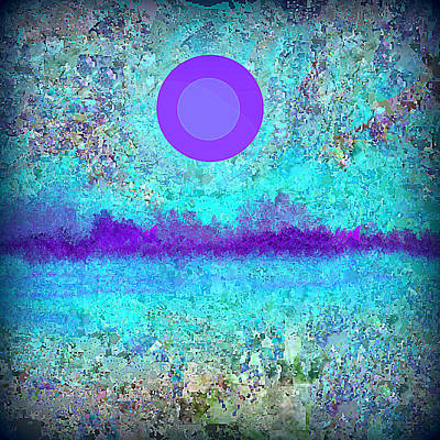 Painting - Purple Moon And Wildflowers by Jessica Wright