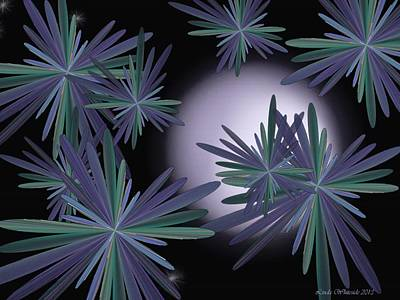 Digital Art - Purple Moon by Linda Whiteside