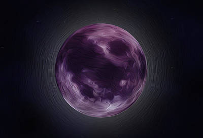 Purple Moon  Art Print by Nathan Clepper