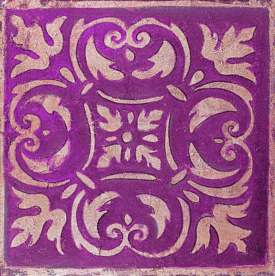 Mosaic Mixed Media - Purple Mosaic by Patricia Pinto