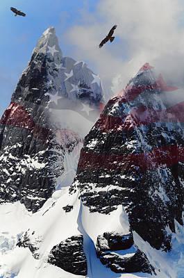Winter Sports Digital Art - Purple Mountain Majesties by Daniel Hagerman