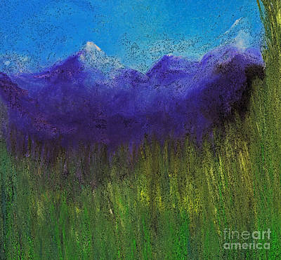 Purple Mountains By Jrr Art Print