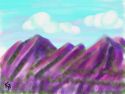 Digital Art - Purple Mountains Majesty by Karen Buford