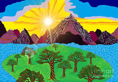 Painting - Purple Mountains Majesty by Lewanda Laboy