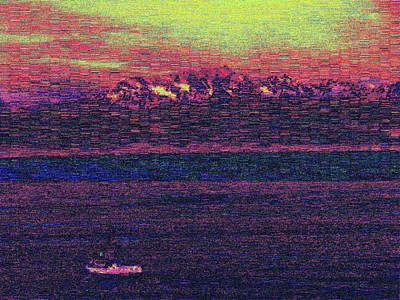 Digital Art - Purple Mountains Majesty by Tim Allen