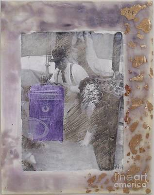 Collage Mixed Media - Purple Mystery by Leslie Jennings
