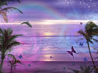 Purple Ocean Dream Art Print by Alixandra Mullins