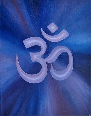 Buddhist Painting - Purple Om  by Michelle Eshleman