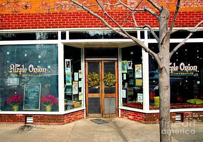 Asheville Digital Art - Purple Onion I Saluda Nc by Jeff McJunkin