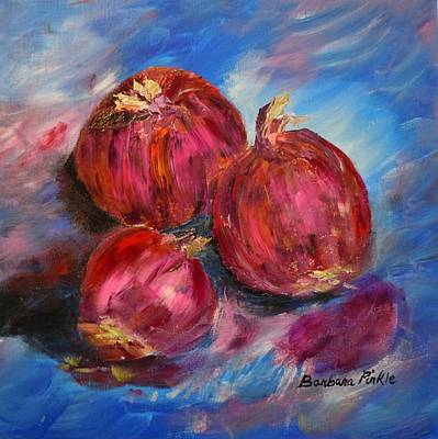 Purple Onions Art Print by Barbara Pirkle