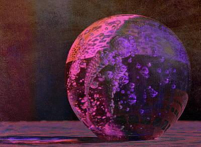 Photograph - Purple Orb by Fraida Gutovich