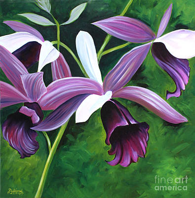 Purple Orchid Art Print by Debbie Hart
