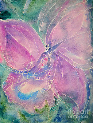 Painting - Purple Orchid by M C Sturman