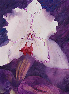 Painting - Purple Orchid by Terry Holliday