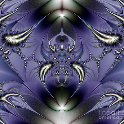 Digital Art - Purple Ornament by Design Windmill