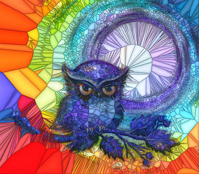 Painting - Owl Meditate by Agata Lindquist