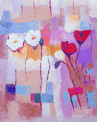 Flower Abstract Painting - Purple Pale by Lutz Baar