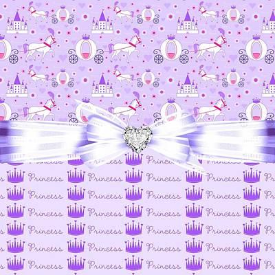 Shower Digital Art - Purple Passion Princess  by Debra  Miller