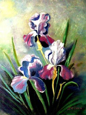 Purple Passion Print by Zelma Hensel