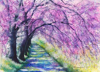 Lavendar Painting - Purple Pathway II by Patricia Allingham Carlson