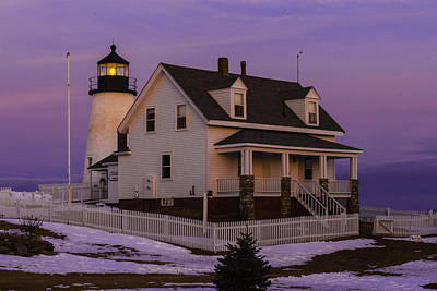 Purple Pemaquid Art Print