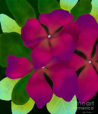Purple Periwinkles Art Print