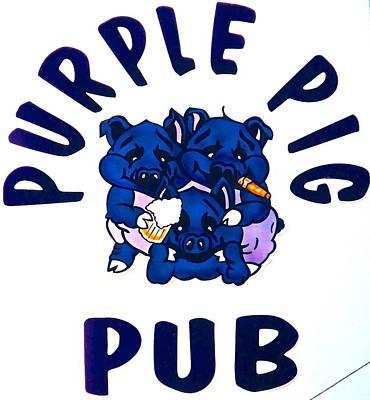 Photograph - Purple Pig Pub by Jeff Gater