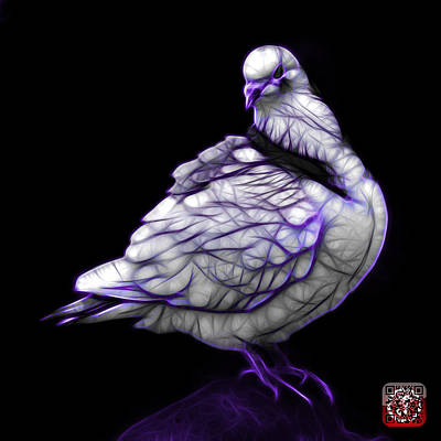 Digital Art - Purple Pigeon Pop Art 5516 - Fs - Bb -  Modern Animal Artist Jam by James Ahn