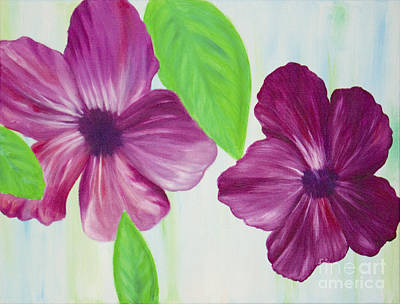 Painting - Purple Pop Flowers by Nicole Burnett