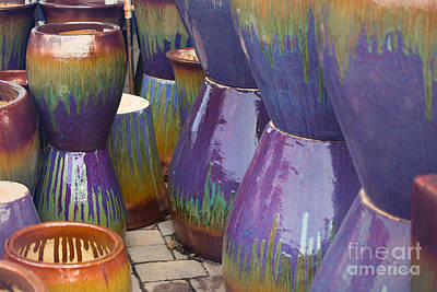 Photograph - Purple Pots by Sally Simon