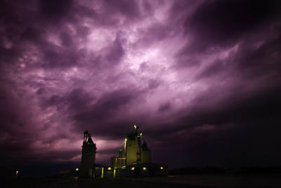 Lightning Photograph - Purple Prairie Storm by Ian MacDonald