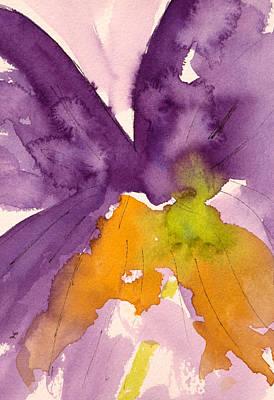 Watercolor Painting - Purple Prayer by Lynne Furrer