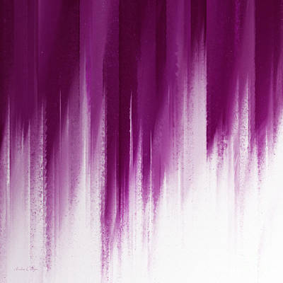 Rain Digital Art - Purple Rain by Andee Design