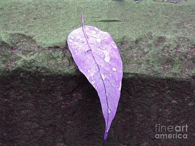 Target Threshold Watercolor - Purple Rain by Michael Krek