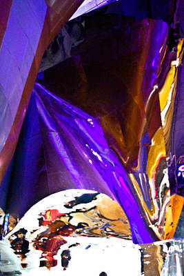Photograph - Purple Reflections - Seattle by Marie Jamieson