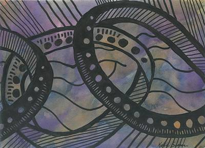 Painting - Purple Rings by Katie Sasser