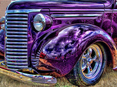 Art Print featuring the photograph Purple by Ron Roberts