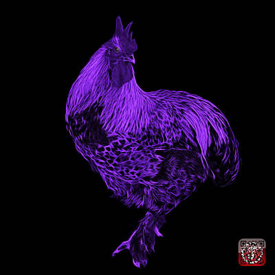 Painting - Purple Rooster 3166 F by James Ahn