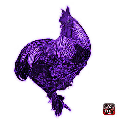 Painting - Purple Rooster - 3166 Fs by James Ahn