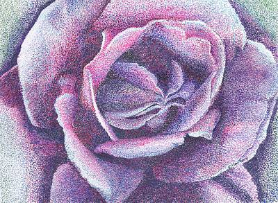 Purple Rose 2-14 Art Print