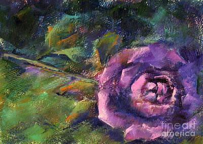 Purple Rose Art Print by Addie Hocynec