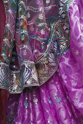 Photograph - Purple Sari by Michele Burgess