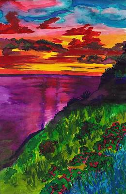 Purple Seas Art Print